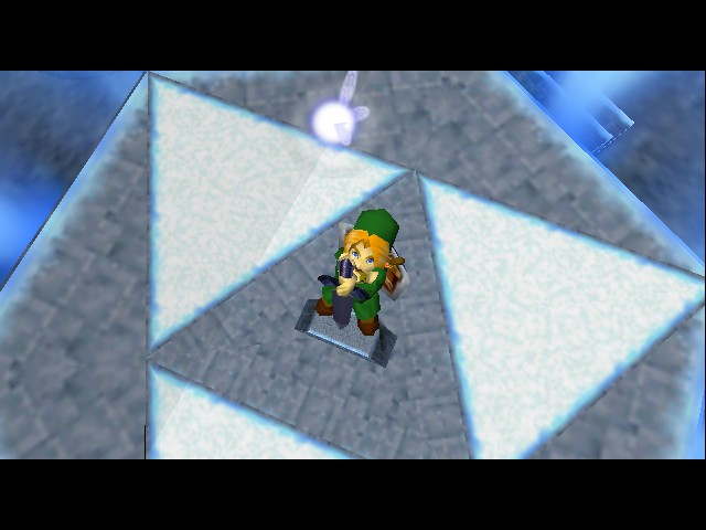 The Legend of Zelda - Ocarina of Time - Cut-Scene  - man this thing is heavy  - User Screenshot