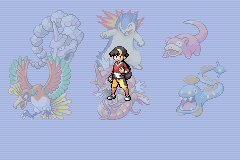Pokemon Shiny Gold - Cut-Scene  - My team at the E4 - User Screenshot