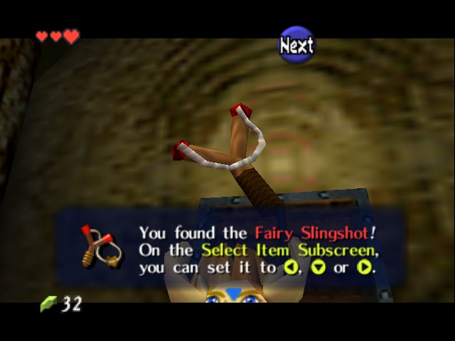 The Legend of Zelda - Ocarina of Time - Cut-Scene  - I was hoping it actually fired fairies. - User Screenshot