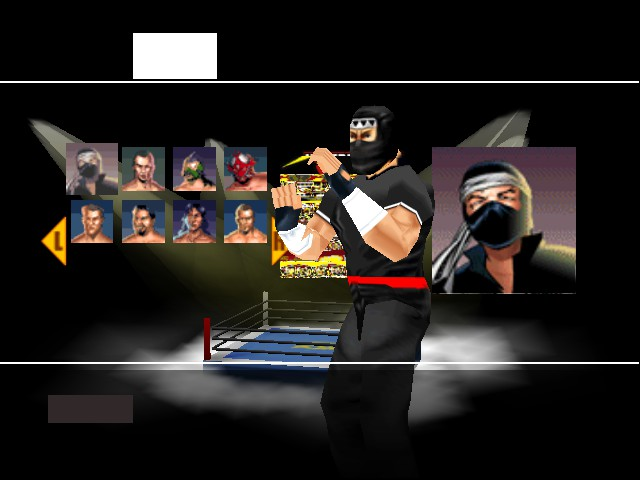 WCW vs. nWo - World Tour - Character Select  -  - User Screenshot