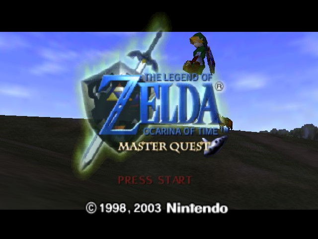 The Legend of Zelda - Ocarina of Time (Debug Edition) - Introduction  - Link, do not sit on the title! - User Screenshot