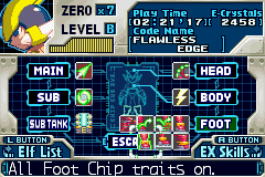 Megaman Zero 3 - Character Profile  - the foot chip you