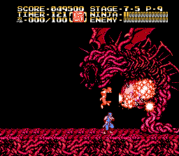 Ninja Gaiden II - The Dark Sword of Chaos - end boss - User Screenshot