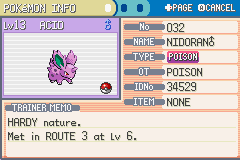 Pokemon Fire Red - Character Profile pokemon  - our new teammate - User Screenshot