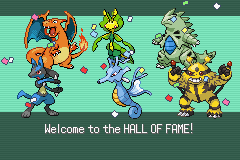 Pokemon Flora Sky - Complement Dex Version - Ending  - my team - User Screenshot