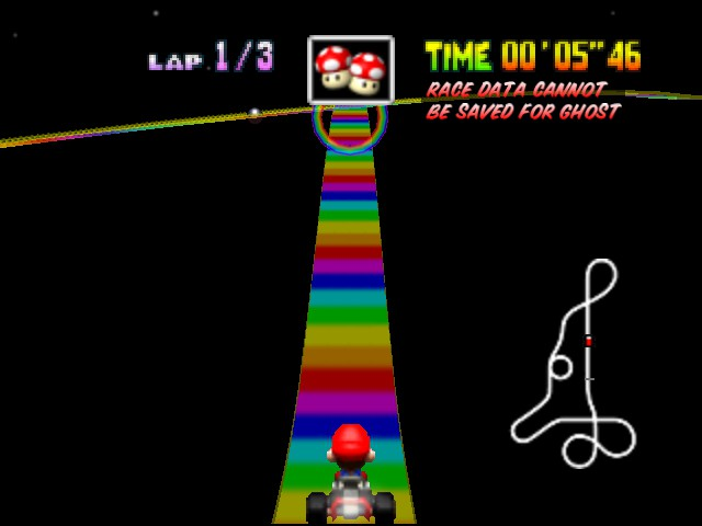 Mario Kart 64 - Misc  - Look out below! - User Screenshot