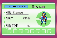 Pokemon Ruby Destiny - Life of Guardians - Character Profile  - New Trainer! Going for completion this time - User Screenshot