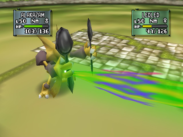 Pokemon Stadium 2 - Battle  - Where is Psybeam Coming From? - User Screenshot