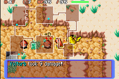 Pokemon Mystery Dungeon - Red Rescue Team - Battle  - look at pikachu he is FLYING - User Screenshot