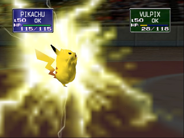 Pokemon Stadium - Battle  - THE GREAT PIKACHU STRIKES - User Screenshot