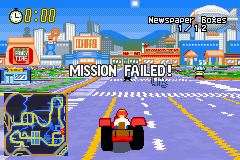 The Simpsons - Road Rage - Location  - Mission Fail LOL! - User Screenshot