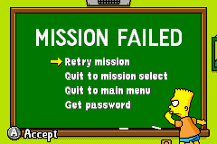 The Simpsons - Road Rage - Menus Continue - Mission Fail LOL! - User Screenshot