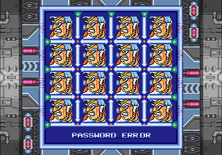 Rockman X3 - Menus Options - password - User Screenshot