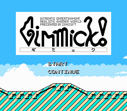 Gimmel -Menus Title Screen:Gimmick! - User Screenshot
