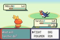Pokemon Emerald - Battle  - That Taillow is cute :3 - User Screenshot