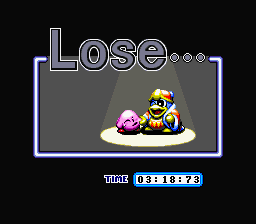 Kirby Super Star - Gameover  - Oh N3