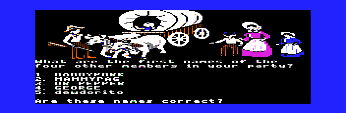 The Oregon Trail - Introduction  - the MLG family - User Screenshot
