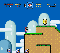 Super Mario World - Level Yoshi - First Level of The Game. - User Screenshot