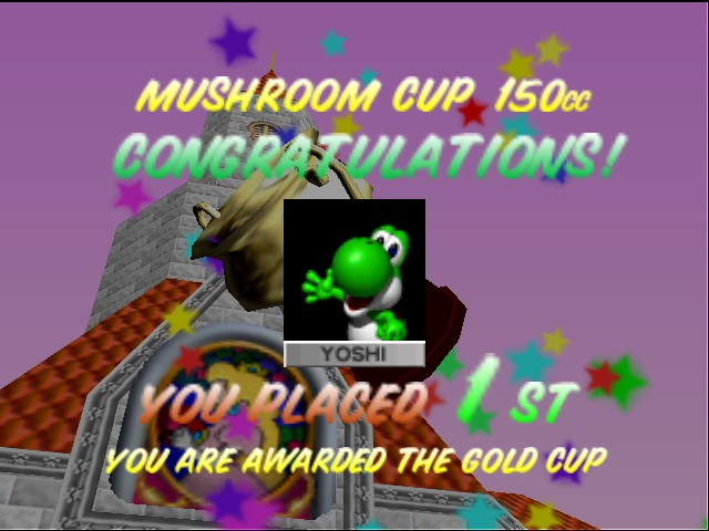 Mario Kart 64 - Ending  - My 1st 150 cc map completed on the first try - User Screenshot