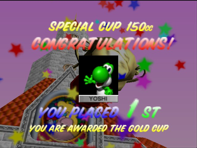 Mario Kart 64 - Ending  - Final 150 cc challenge complete! - User Screenshot