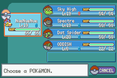 Pokemon Shiny Gold - Character Profile  - This is my team before 3rd Gym Leader :) - User Screenshot