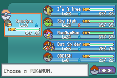 Pokemon Shiny Gold - Character Profile  - This is my team before 4th Gym Leader :) - User Screenshot