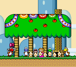 Super Mario World - Ending  - Here come the eggs! - User Screenshot
