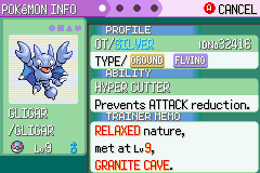 Pokemon Rebirth - Shiny Pokemon: Gligar - User Screenshot