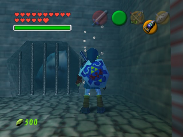 Legend of Zelda, The - Ocarina of Time - Master Quest - a shark!!! - User Screenshot