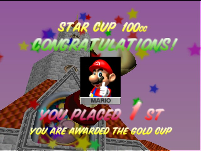 Mario Kart 64 - Number one again! - User Screenshot