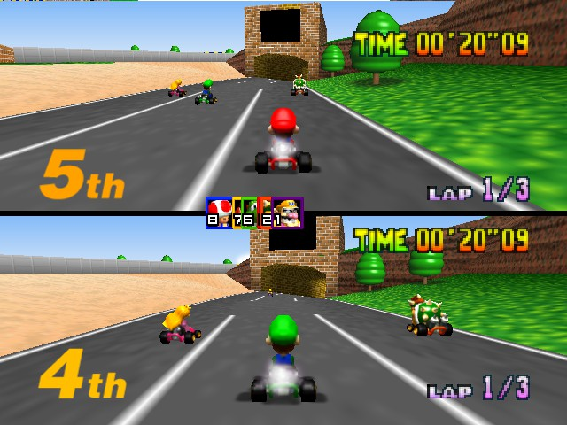 Mario Kart 64 - two player - User Screenshot