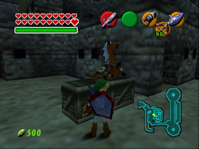 Legend of Zelda, The - Ocarina of Time - Master Quest - Misc epona glitch -  - User Screenshot