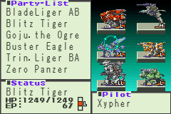 Zoids Legacy - strongest team - User Screenshot