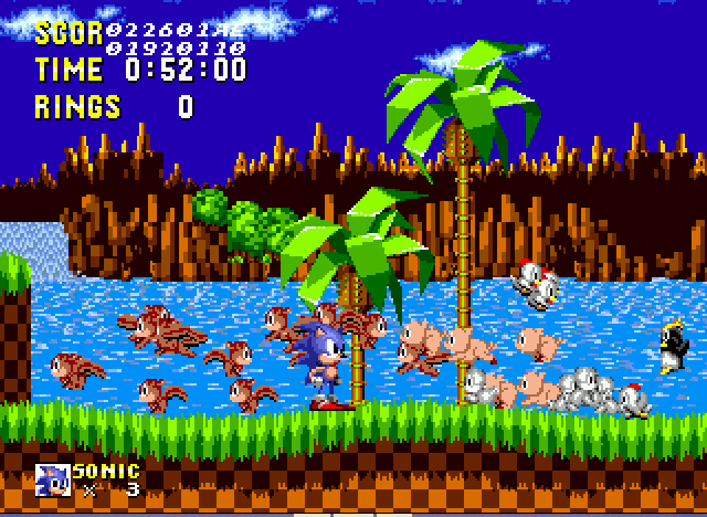 Sonic 1 Megamix - I Beat The Game Losers - User Screenshot