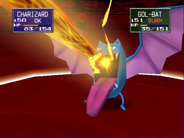 Pokemon Stadium - hyper beam and golbat tounge is really long - User Screenshot