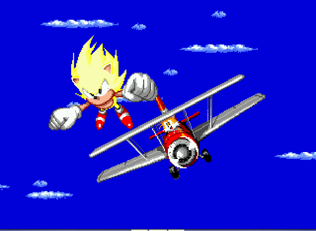 Sonic the Hedgehog 2 - Ending  - YAY I MADE IT! - User Screenshot