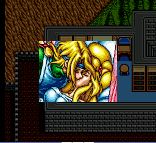 Shining Force II - Bowie kisses Princess Elis - User Screenshot