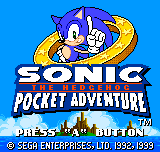 Sonic the Hedgehog - Pocket Adventure - title... - User Screenshot