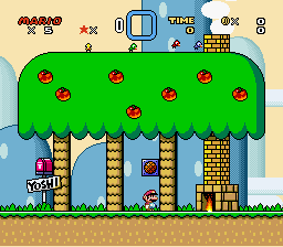 Super Mario World - Level Yoshi\\ - Lol had a save from 3 years ago ha..... FAIL! - User Screenshot