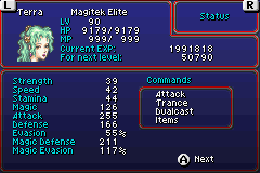 Final Fantasy VI Advance - My final status beat everyone on this game - User Screenshot