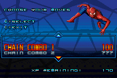 Spider-Man 2 - Menus Upgrade - Upgrade menu - User Screenshot