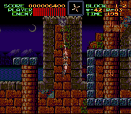 Super Castlevania IV - Level  - Tarzan Belmont! cost  me a life... - User Screenshot