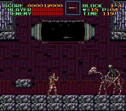 Super Castlevania IV - Boss 1: Rowdain! - User Screenshot