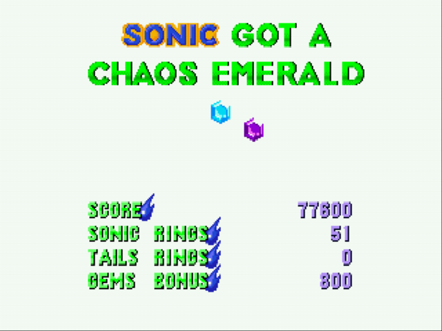 Sonic 2 Delta II - yeah chaos emerald! - User Screenshot