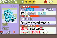 Pokemon Naranja (v2) - mi crystal onix ya man!!!! - User Screenshot