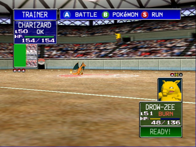 Pokemon Stadium 2 - flying drowsey!!!! - User Screenshot