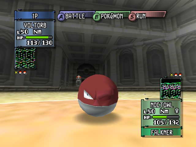 Pokemon Stadium 2 - voltorb with one eye!!!!! - User Screenshot