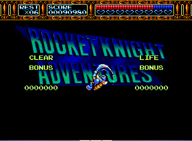 Rocket Knight Adventures - spinnin out of control - User Screenshot