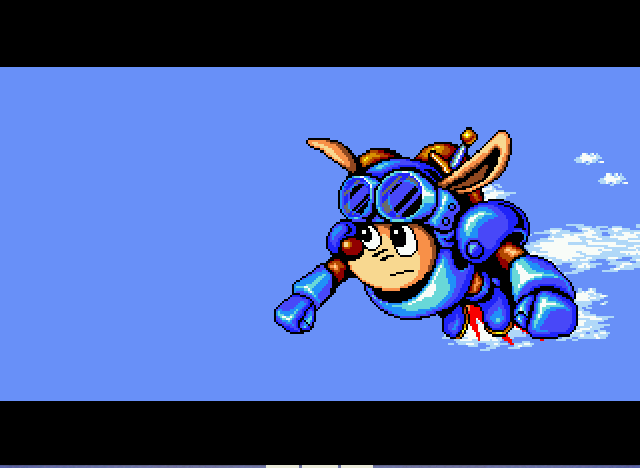 Rocket Knight Adventures - sparkster going mach speed - User Screenshot