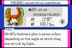 Pokemon Burning Ruby - Battle  - HO-OH - User Screenshot